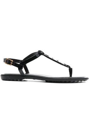 Tod's Dames Sandalen - Link-strap flat sandals