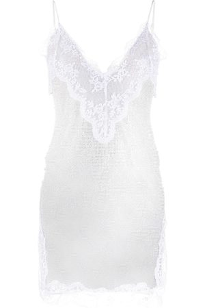 Christopher Kane Crystal mesh cami dress