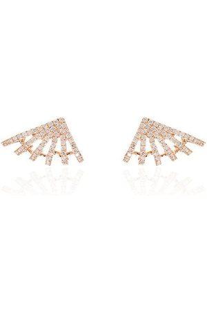 Dana Rebecca Designs 14kt Sarah Leah six burst diamond earrings