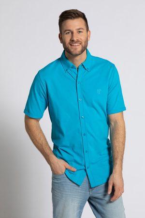JP 1880 Heren Overhemden - Grote Maten Piqué Overhemd Flexnamic®, Heren, turquoise