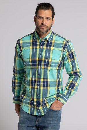 JP 1880 Grote Maten Geruit Overhemd, Heren, turquoise