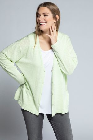 Ulla Popken Dames Cardigans - Grote Maten Oversized Vest, Dames