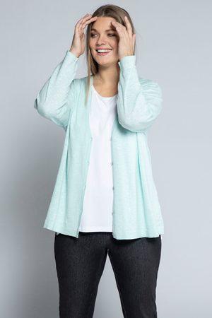 Ulla Popken Dames Cardigans - Grote Maten Oversized Vest, Dames, turquoise
