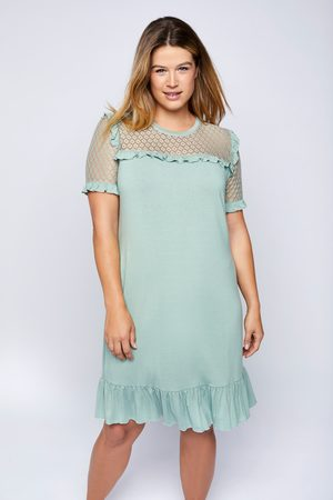 Ulla Popken Dames Nachthemden - Grote Maten Nachthemd, Dames, turquoise