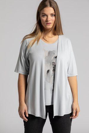 Ulla Popken Dames T-shirts - Grote Maten Shirt 2-in-1, Dames
