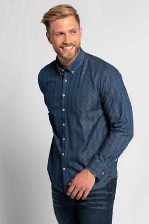 JP 1880 Heren Overhemden - Grote Maten Geruit Jeansoverhemd, Heren