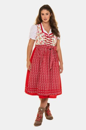 Ulla Popken Dames Lange jurken - Grote Maten Folklore Jurk, Dames