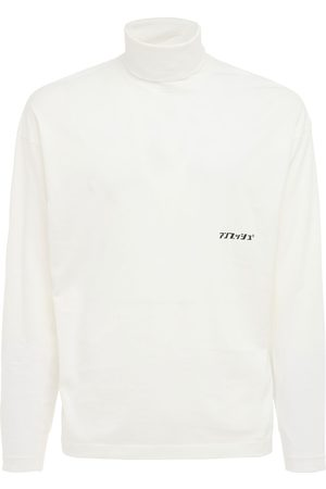 AMBUSH Heren Coltruien - Logo Cotton Jersey Turtleneck T-shirt