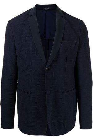 Emporio Armani Textured single-breasted blazer