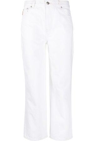 Ganni Straight leg cropped jeans