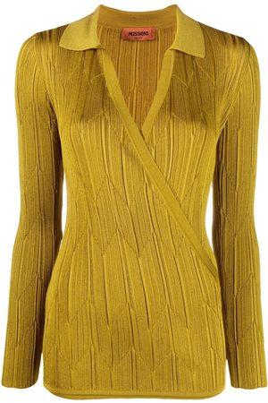 Missoni Zigzag-knit wrap polo shirt