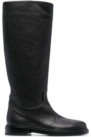 LE SILLA Sama grained knee boots
