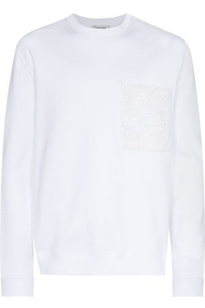 VALENTINO Lace pocket sweatshirt