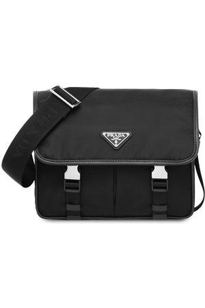 Prada Small Re-Nylon and Saffiano leather shoulder bag