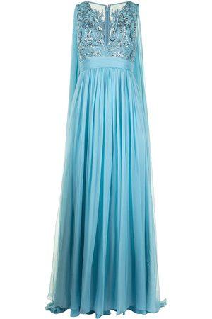 Zuhair Murad Embellished bodice flyaway gown