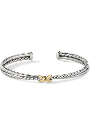 David Yurman 18kt yellow gold X cuff bracelet