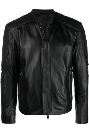 DESA 1972 Panelled-detail leather jacket