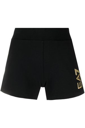 EA7 Logo print fitted shorts