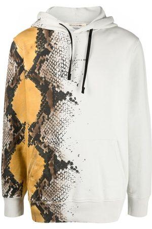 1017 ALYX 9SM Snakeskin-print cotton hoodie