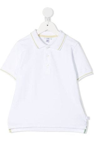 KNOT Stripe-detail polo shirt