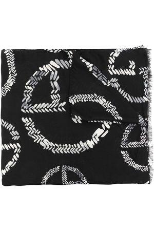 Armani Logo-print knitted scarf
