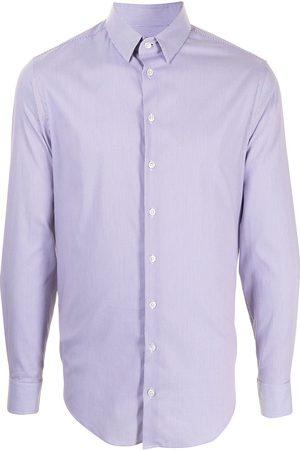 Armani Heren T-shirts - Stripe print cotton shirt