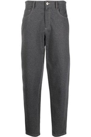 Brunello Cucinelli High-waist stretch-cotton trousers
