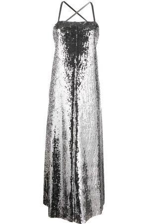 JUNYA WATANABE Metallic-effect sequinned maxi dress