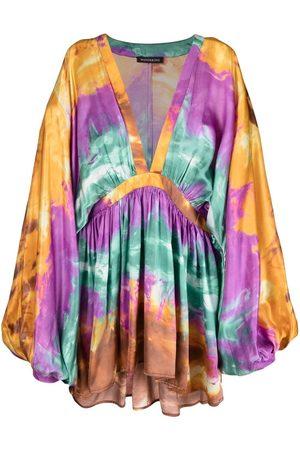 WANDERING Tie dye-print pleated dress