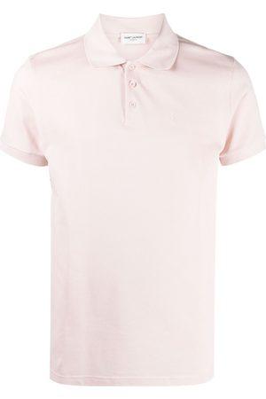 Saint Laurent Embroidered-logo polo shirt