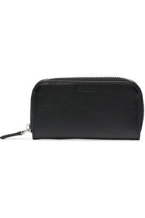 Prada Debossed-logo leather pouch