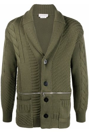 Alexander McQueen Cable-knit wool cardigan