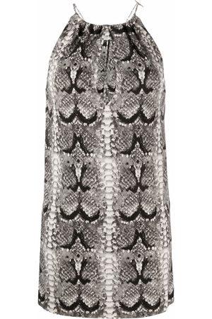 Saint Laurent Snakeskin-print mini dress