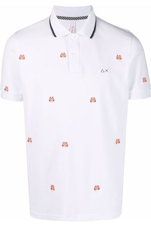 sun68 Embroidered crab polo shirt