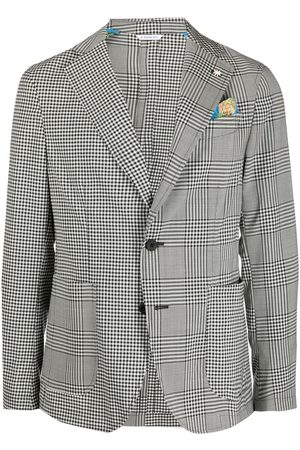 Manuel Ritz Nuvola patchwork single-breasted blazer