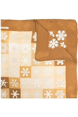 Hermès Pre-owned snowflake print silk scarf