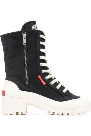 Superga Lace-up platform boots
