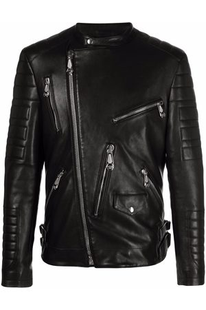 Philipp Plein Leather biker jacket