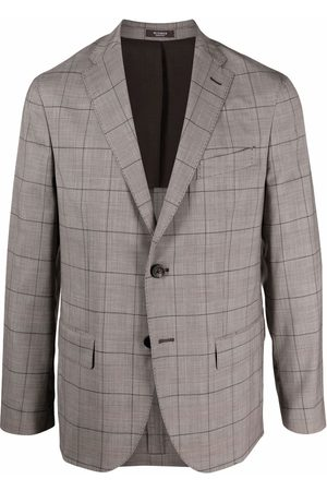 PESERICO SIGN Check-print single-breasted blazer