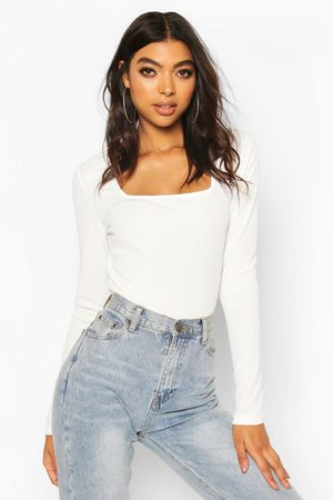 Boohoo Dames Bodysuits - Tall Square Neck Rib One Piece