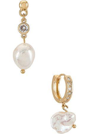 Ettika Pearl Drop Earrings Set in