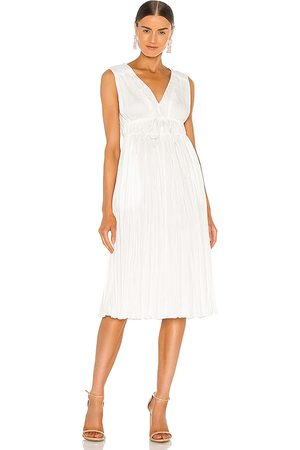 REBECCA TAYLOR Sleeveless Broomstick Pleating Dress in