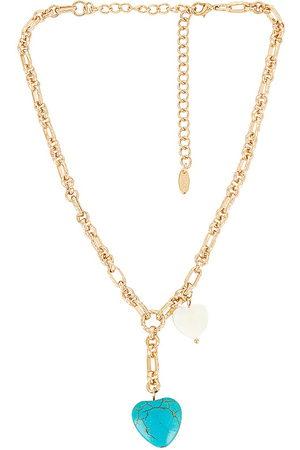 Ettika Turquoise Heart Lariat Necklace in