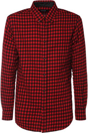 Dsquared2 Heren T-shirts - Micro Check Wool & Viscose Flannel Shirt