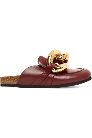 J.W.Anderson Dames Clogs - 15mm Embellished Leather Mules