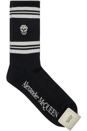 Alexander McQueen Heren Sokken - Stripe & Skull Cotton Blend Socks