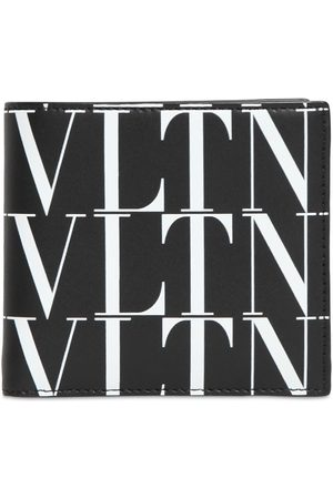 VALENTINO GARAVANI Vltn Times Print Leather Wallet