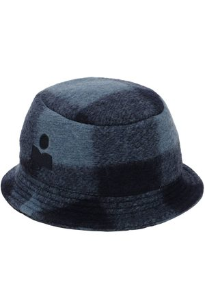 Isabel Marant Dames Buckethat - Haley Checked Wool Blend Bucket Hat