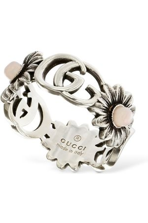 Gucci Double G Flower Ring W/ Mother Of Pearl