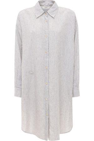 Isabel Marant Dames Korte jurken - Seen Striped Poplin Draped Mini Dress